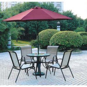 供应合肥卖带伞的桌椅的厂 合肥户外伞桌椅订做