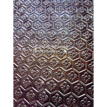 供应重庆 专业生产不锈钢压花板 古铜色高档装饰不锈钢压花 板天花板
