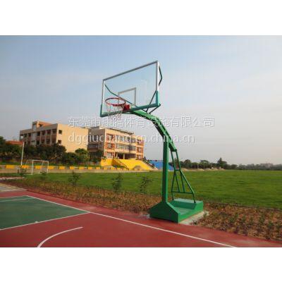 清远户外篮球架 康腾室外钢化玻璃板 标准移动比赛用篮球架