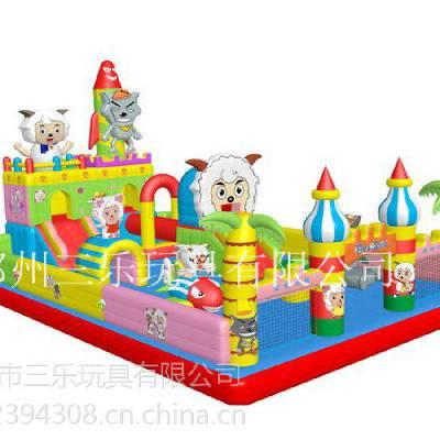 供应火箭喜洋洋儿童充气蹦蹦床/马年流行的儿童大型充气玩具儿童玩具电动车
