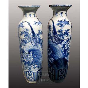 供应商务大花瓶-礼品瓷器,青花山水、花鸟大花瓶