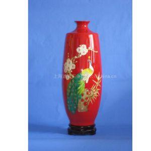 供应麦草画陶瓷花瓶/纯手工制作麦杆画陶瓷花瓶