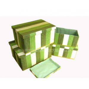 供应【柳编】草编工艺品招商加盟,—1只起订!———收纳盒沙网布绿四盒