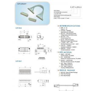 供应0.8T压接式条形连接器