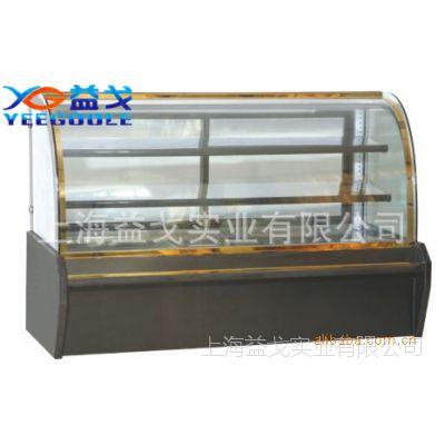 益戈供应弧形玻璃保温陈列柜 保温展示柜 恒温柜 蛋糕保温柜13788978664