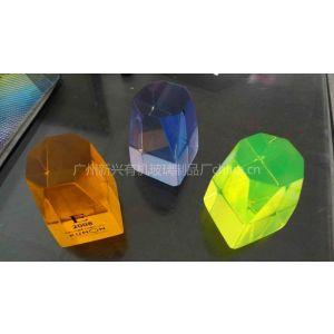 供应广州有机玻璃梦幻水晶丝印奖章