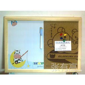 供应磁性板+软木留言板 木框白板 木框软木板 磁性白板