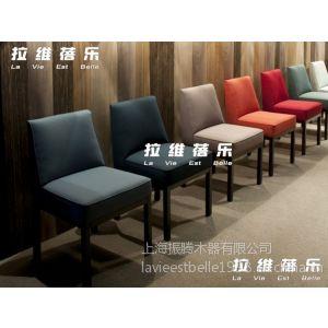 供应简约多色实木椅子 布艺皮艺餐椅高档西餐厅椅咖啡厅椅 上海定做