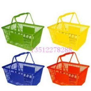 供应天津超市购物篮 塑料购物篮