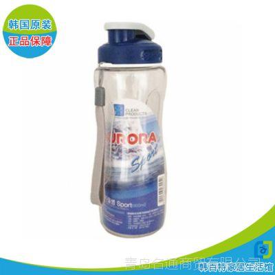批发 韩国进口 运动水瓶600ML  塑料无毒无害水瓶 密封便携