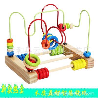 巧之木 智慧绕珠木制益智数学算数串珠早教玩具大号台式绕珠玩具