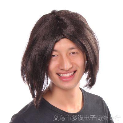 时尚BOBO头 女生假发 斜刘海修脸短发 cosplay 短发日系款