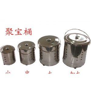 供应明慧不锈钢化金桶 烧纸桶 铁桶一套4个