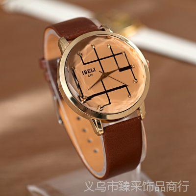2013新款手表 休闲手表进口PU棱形表盘个性时尚 女款手表 全网爆