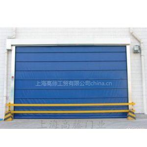 上海高藤门业 供应堆积式高速门 堆积门的设计比快速卷帘门系列的抗风压更强,增加了横向门布抗风杆的数量