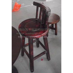 厂家批发酒店碳化木桌椅防腐木桌椅车轮椅生态酒店碳化木防腐木桌椅