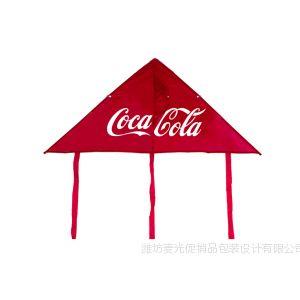 供应【潍坊风筝批发厂家生产】单色丝印广告三角风筝(配线)