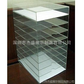 供应9層A4文件收納架,壓克力資料架,资料摆放架,深圳生产