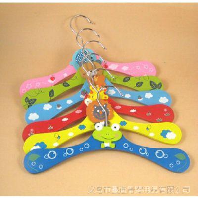 韩国可爱卡通造型儿童木制衣架,多个款式,图案都非常可爱2721