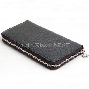 供应广州钱包厂直销男士高档拉链钱包 长款精致手包