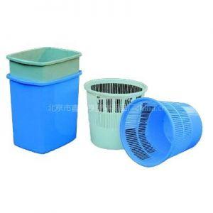 供应北京市鑫华亨塑料用品厂家直销塑料纸篓、垃圾篓、垃圾桶