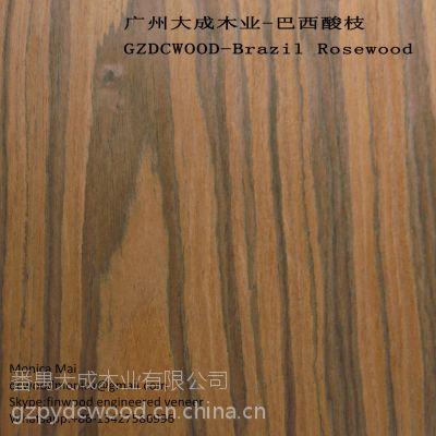 供应巴西酸枝 枫源科技木皮 广州南沙 finwood rosewood