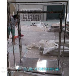 供应批发定做不锈钢展示架 服装店品牌不锈钢展示架销售