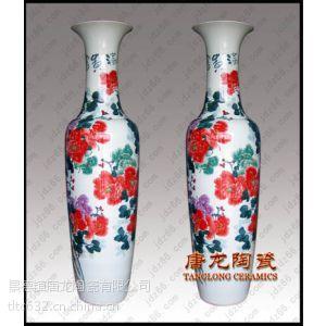 订做手绘迁乔礼品花瓶 景德镇陶瓷大花瓶厂家 千火陶瓷
