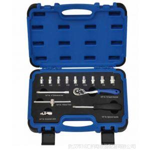 供应美国TEMO14件英制套筒扳手组套(1/4寸方)TMSK80