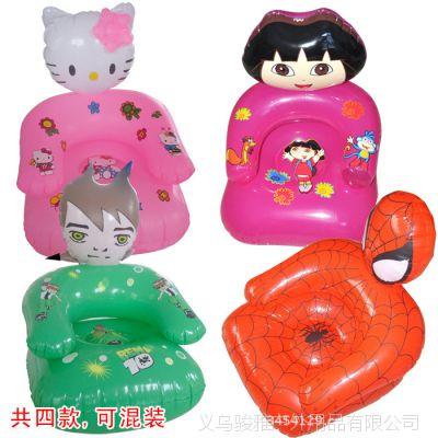 儿童沙发 PVC充气沙发 PVC玩具 卡通公仔沙发 带头沙发 单人沙发