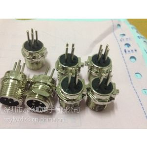 供应厂家生产弯脚PCB板式航空插座