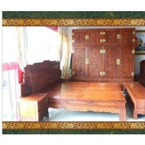 供应明清红木家具 正宗国标类红木 红木床 缅甸花梨 床 衣柜大果紫檀