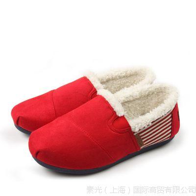 速卖通淘宝货源 一件代发保暖加厚棉鞋 帆布女式单鞋老北京布鞋女