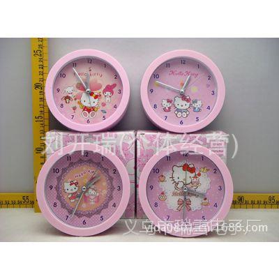 粉色经典圆形KT猫迪士尼卡通静音闹钟儿童卧室学校礼物礼品闹钟