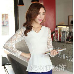 供应625韩版秋季新款蕾丝上衣雪纺打底衫免费代理网店加盟一件代发货