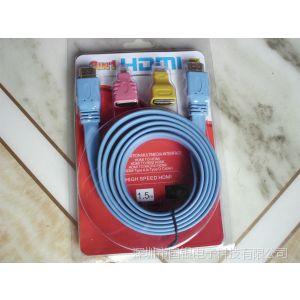 供应HDMI3合1套装【HDMI线配mini  /  micro 转接头 A-C转接头】1.4V