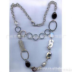 供应时尚饰品,新款服装配饰,串链圆圈,天然黑色玛瑙,欧美风格