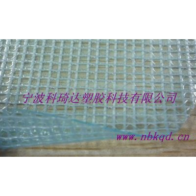 透明PVC夹网布文件袋面料,半透明PVC夹网布