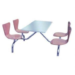 供应不锈钢四连体餐桌椅