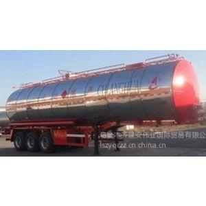 供应不锈钢液态食品(食用油)运输半挂车