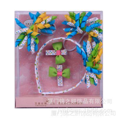 卷卷带系列糖果色发带 儿童五件套饰品 加工定制