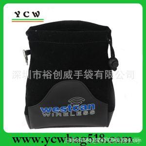 供应深圳龙岗爱联厂家直销 生产束口袋 可加印LOGO 绒布拼PU拉绳袋