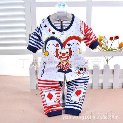 2015春季热销新款儿童纯棉内衣套装亮晨0346-1婴儿卡通棉毛两