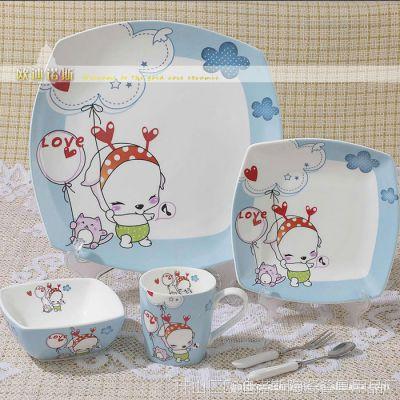 卡通 儿童餐具 景德镇套装 礼品瓷 节日瓷