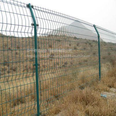 厂家供应绿色双边丝护栏网 小区隔离防护网 现货浸塑铁丝护栏网