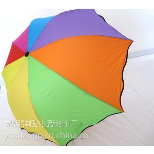 供应昆明广告雨伞印LOGO 昆明雨伞定做 畅行天下、风雨无阻