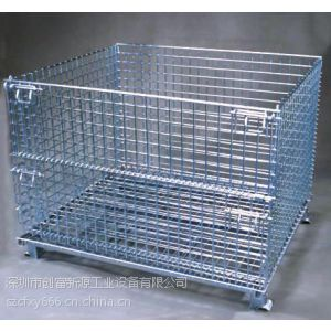 供应金属折叠式仓储笼出厂价格,泉州镀锌仓储笼生产厂