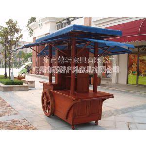 供应广州木制售卖车价格 广场售货车订做要多久 实木售货车价格
