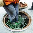 供应佳木斯污水井安全防护网窨井防坠网厂家规格
