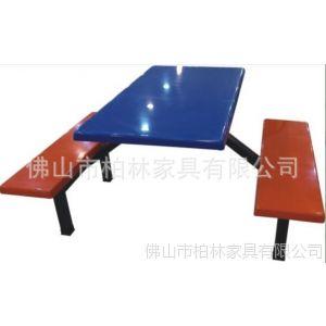 供应饭堂餐桌椅 饭堂椅 8人位玻璃钢餐桌椅700元